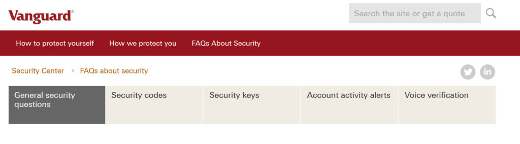 vanguard security features